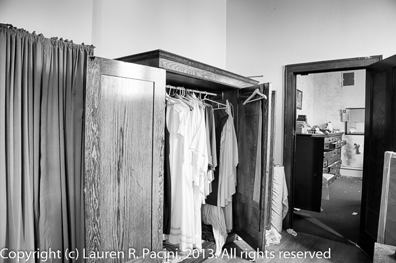 Vestments Hanging in A Closet in a Dressing Room Adjacent to the Chancel