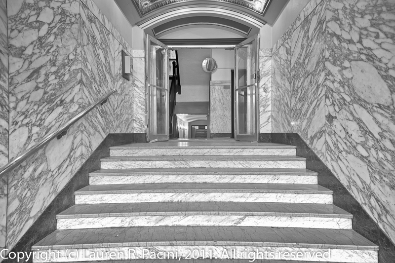 Steps Leading from Main Entrance up to the Lobby